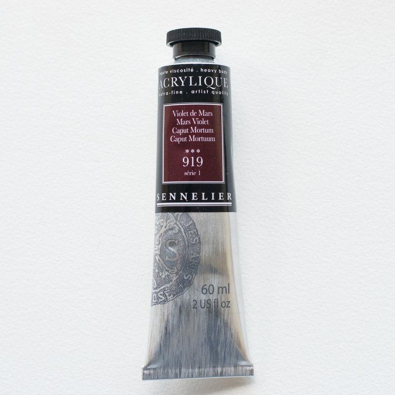 SENNELIER Acrylique Extra fine Tube 60ml Violet de Mars S1