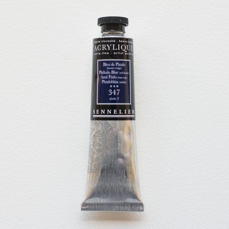 SENNELIER Acrylique Extra fine Tube 60ml Bleu de Phtalo Nuance Rouge S2