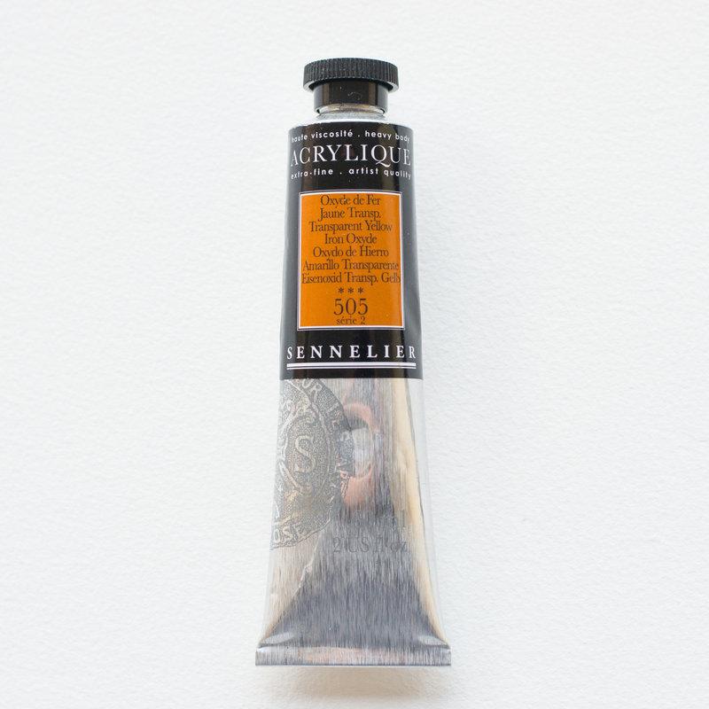 SENNELIER Acrylique Extra fine Tube 60ml Oxyde de Fer Jaune Transparent S2