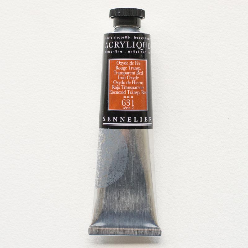 SENNELIER Acrylique Extra fine Tube 60ml Oxyde de Fer Rouge Transparent S2