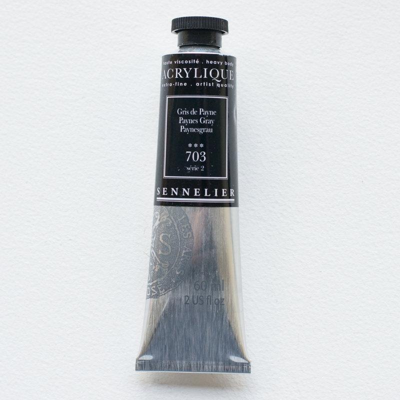 SENNELIER Acrylique Extra fine Tube 60ml Gris de Payne S2