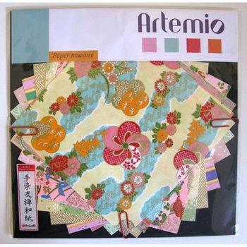 ARTEMIO Kit Papier Japon 15X15Cm pastel