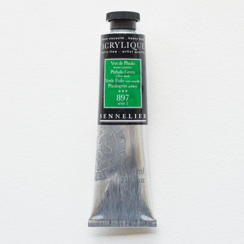 SENNELIER Acrylique Extra fine Tube 60ml Vert de Phtalo Nuance Jaunâtre S2