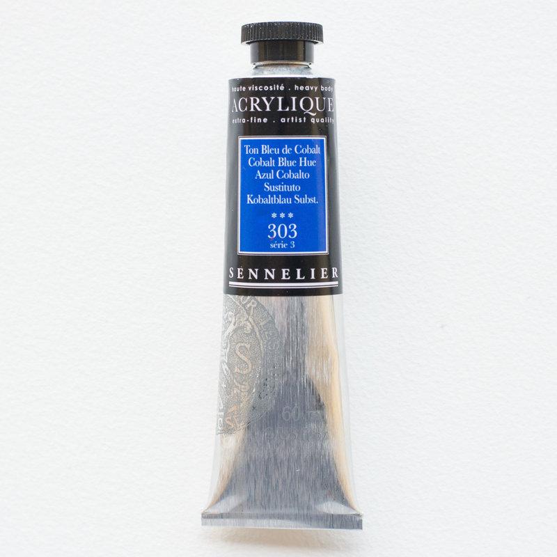 SENNELIER Acrylique Extra fine Tube 60ml Ton Bleu de Cobalt S3