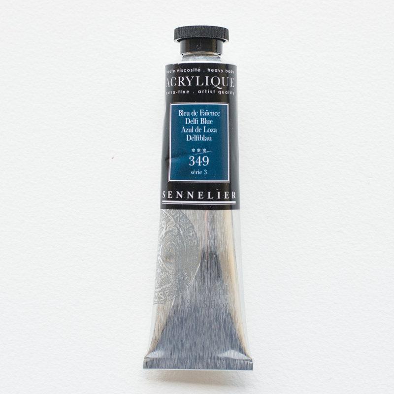 SENNELIER Acrylique Extra fine Tube 60ml Bleu de Faïence S3