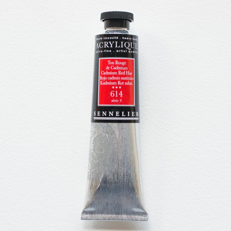 SENNELIER Acrylique Extra fine Tube 60ml Ton Rouge de Cadmium S3