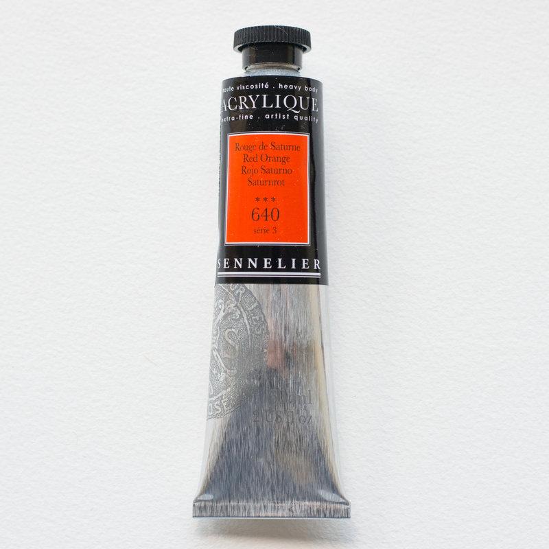 SENNELIER Acrylique Extra fine Tube 60ml Rouge de Saturne S3
