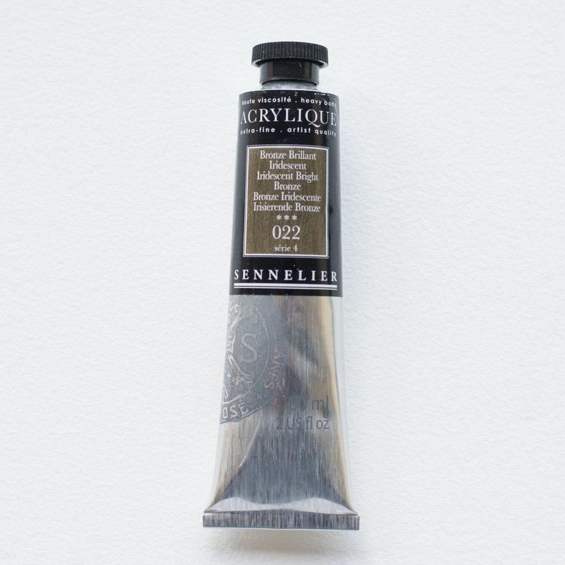 SENNELIER Acrylique Extra fine Tube 60ml Bronze Brillant Iridescent S4