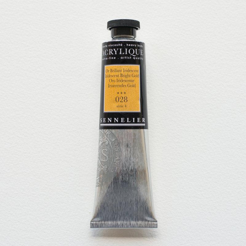 SENNELIER Acrylique Extra fine Tube 60ml Or Brillant Iridescent S4