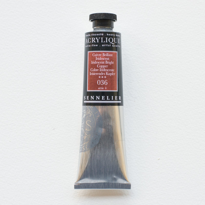 SENNELIER Acrylique Extra fine Tube 60ml Cuivre Brillant Iridescent S4