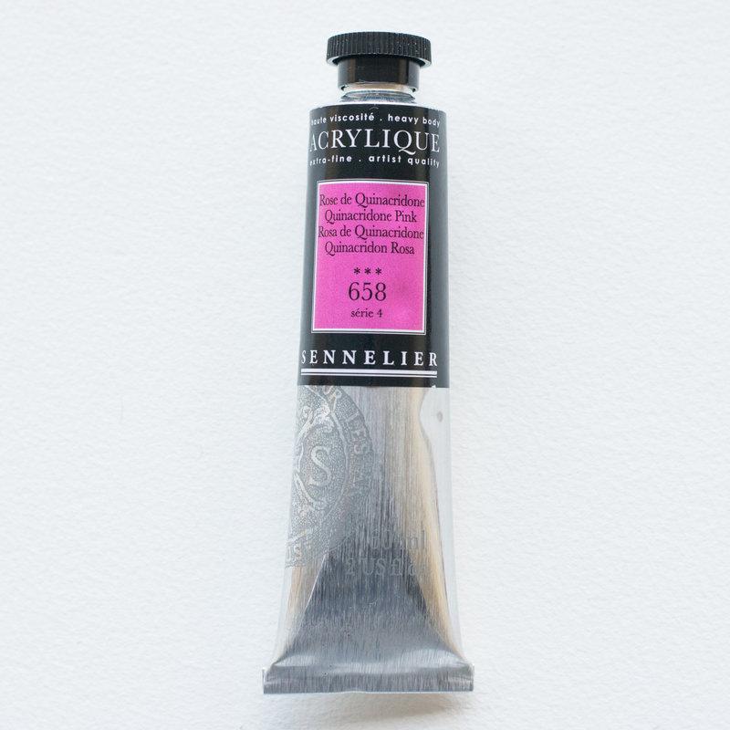 SENNELIER Acrylique Extra fine Tube 60ml Rose Quinacridone S4