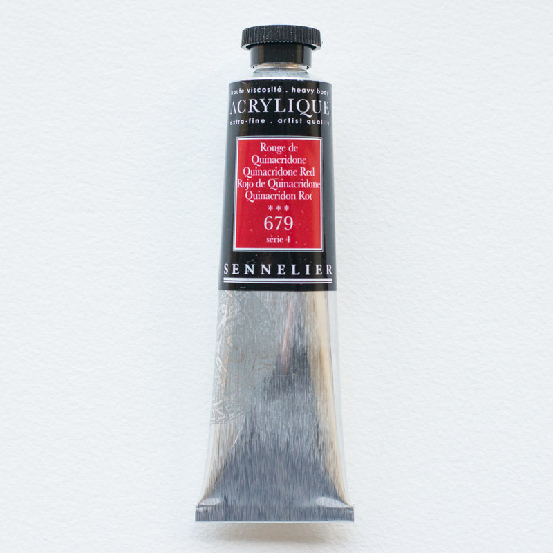 SENNELIER Acrylique Extra fine Tube 60ml Rouge de Quinacridone S4