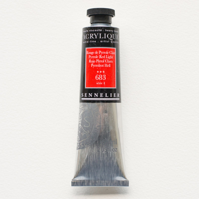 SENNELIER Acrylique Extra fine Tube 60ml Rouge de Pyrrole Clair S4