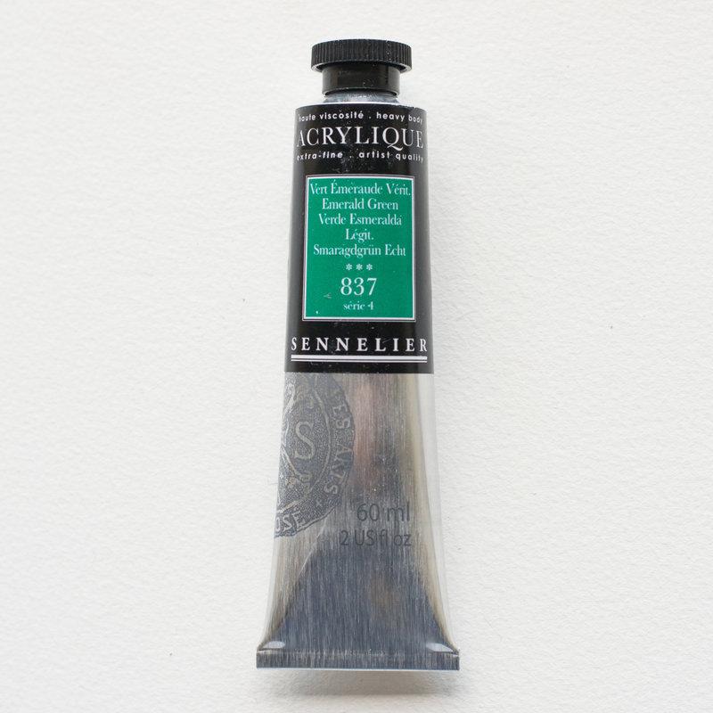 SENNELIER Acrylique Extra fine Tube 60ml Vert Émeraude Véritable S4