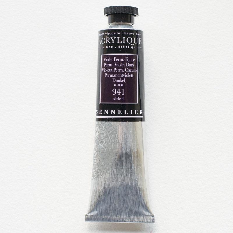 SENNELIER Acrylique Extra fine Tube 60ml Violet Permanent Foncé S4