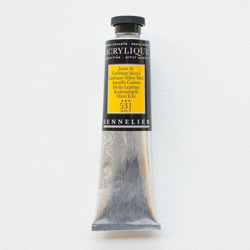 SENNELIER Acrylique Extra fine Tube 60ml Jaune de Cadmium Moyen S6