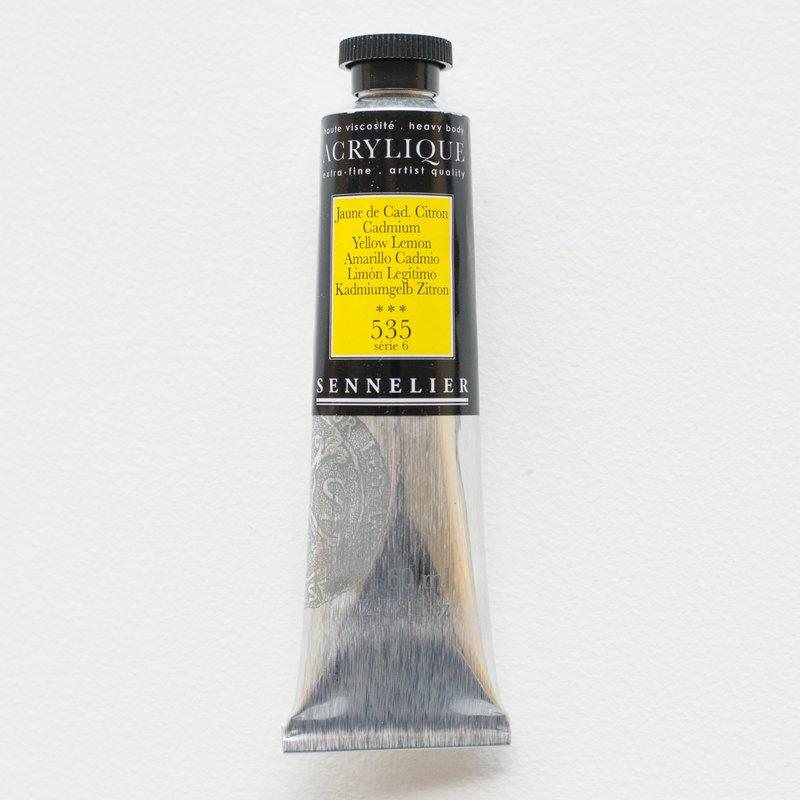 SENNELIER Acrylique Extra fine Tube 60ml Jaune de Cadmium Citron S6