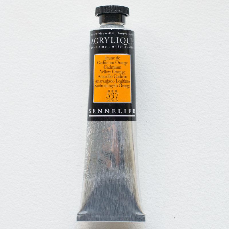 SENNELIER Acrylique Extra fine Tube 60ml Jaune de Cadmium Orange S6