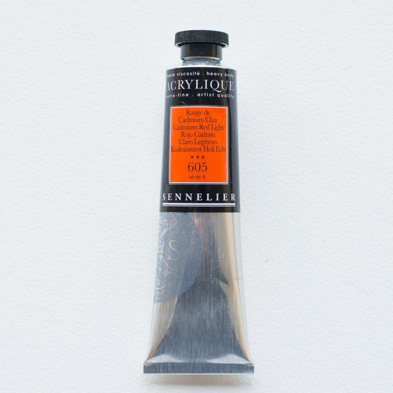 SENNELIER Acrylique Extra fine Tube 60ml Rouge de Cadmium Clair S6