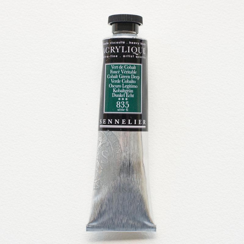 SENNELIER Acrylique Extra fine Tube 60ml Vert de Cobalt Foncé Véritable S6