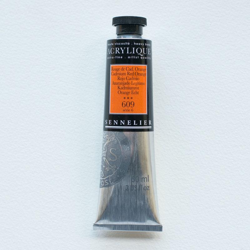 SENNELIER Acrylique Extra fine Tube 60ml Rouge de Cadmium Orange S6