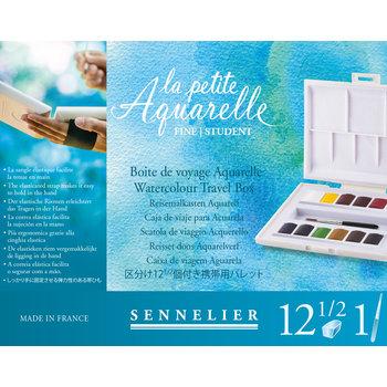 SENNELIER La Petite Aquarelle Boite Voyage 12 1/2godets