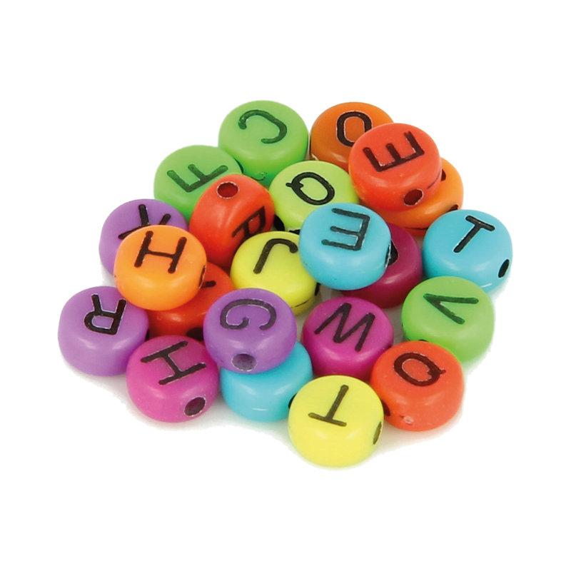 ARTEMIO 300 Perles Alphabet 7Mm Couleurs vives