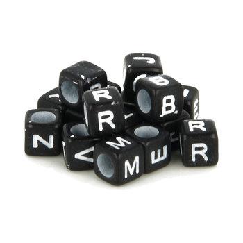 ARTEMIO 300 Perles Alphabet 6Mm Noir/Blanc