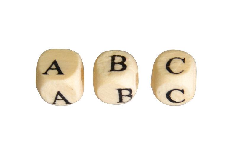 ARTEMIO 312 Perles Alphabet 8x8mm Bois