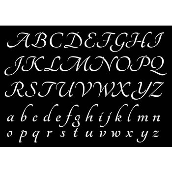 ARTEMIO Pochoir A4 Alphabet