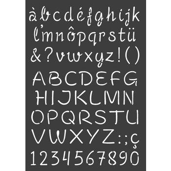 ARTEMIO Pochoir A4 Alphabet Majuscule/Minuscule