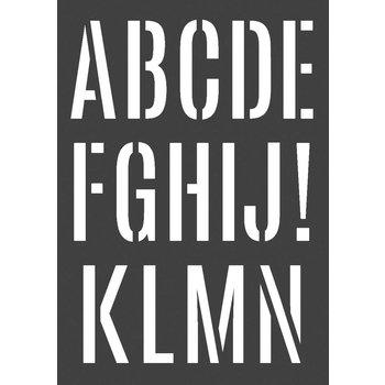 ARTEMIO Pochoir A3 Alphabet Géant 2 Feuilles