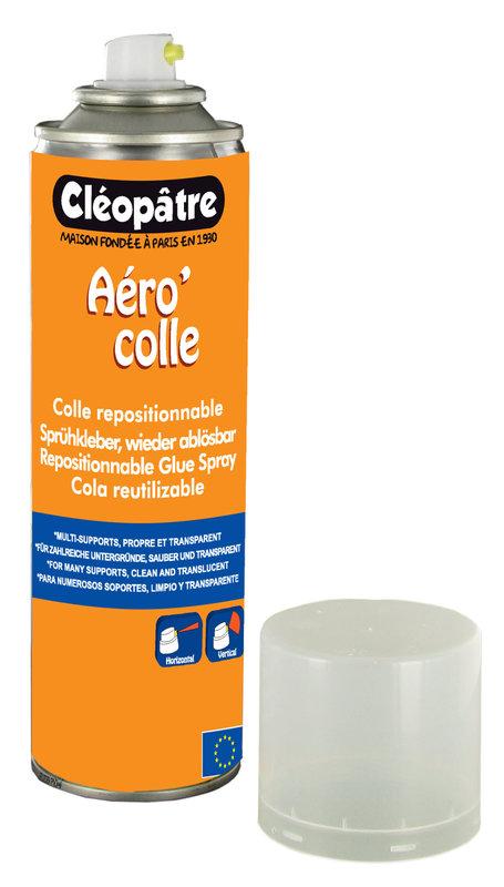 CLEOPATRE Aéro'Colle Repositionnable de 250 ml