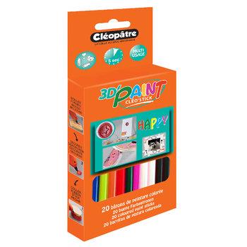 CLEOPATRE Boite Packboardable «Stor'Box» De 20 Batons -8 Couleurs «Happy» Peinture Instant 3D Pour Cleogun