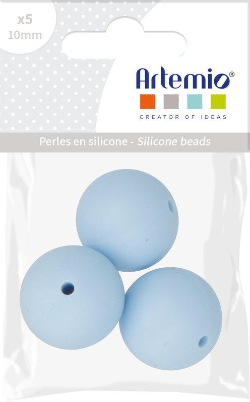 ARTEMIO 3X Perle Silicone Ronde 15Mm Bleu Pastel