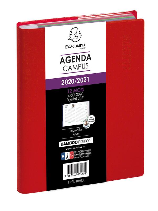 EXACOMPTA Agenda Scolaire 1 jour par page Forum Campus 170x120 couleurs aléatoires