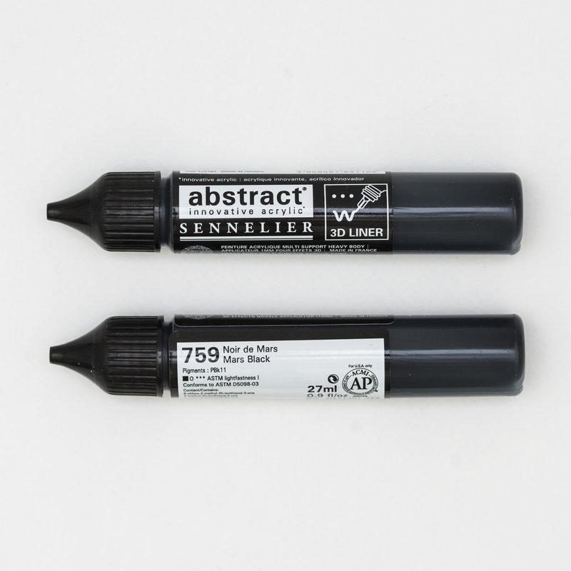 SENNELIER Abstract liner 27ml Noir de Mars