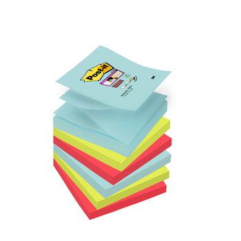 POST-IT Z-Notes Super Sticky Post-it® Couleurs Miami, 76 x 76 mm, 6 blocs