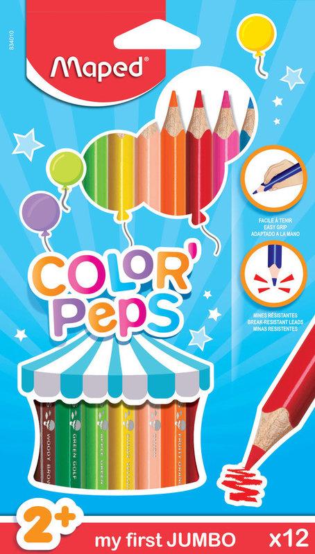 MAPED 12 crayons de couleur FSC EARLY AGE en pochette carton