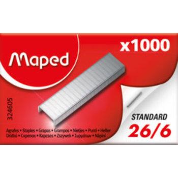 MAPED Boîte de 1 000 agrafes 26/6