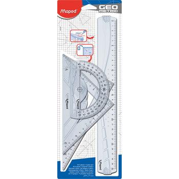 MAPED Kit 4 instruments - GEOMETRIC. en plastique recyclé