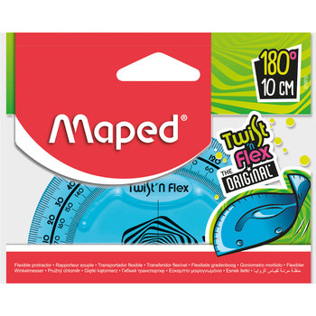 MAPED Rapporteur 180° base 10 cm TWIST 'N FLEX ORIGINAL coloris assortis