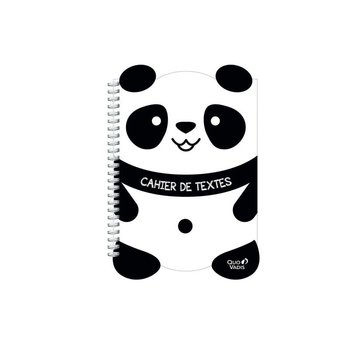 QUO VADIS Cahier de texte S Kawaii 17x22cm panda ou lion