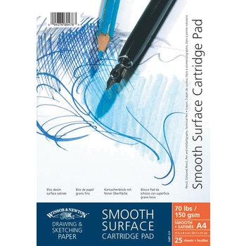 WINSOR & NEWTON Bloc Papier A Spirales Dessin 25 Feuilles 150Gr A4 Surface Satinee