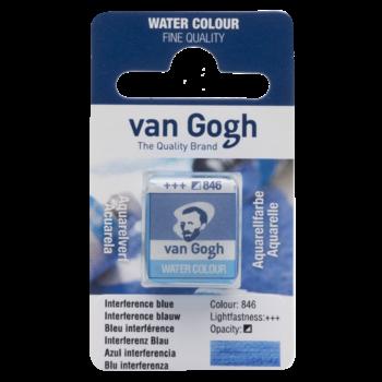 VAN GOGH Aquarelle 1/2 Godet Bleu Interférence