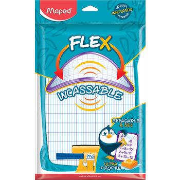 MAPED Kit ardoise blanche incassable décorée avec 1 porte accessoires + 1 brosse + 1 feutre