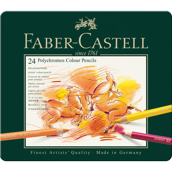 FABER CASTELL Crayons Polychromos boîte métal 24x