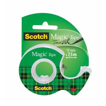 SCOTCH Dévidoir adhésif Scotch invisible + rouleau 19 mm x 7,5 m