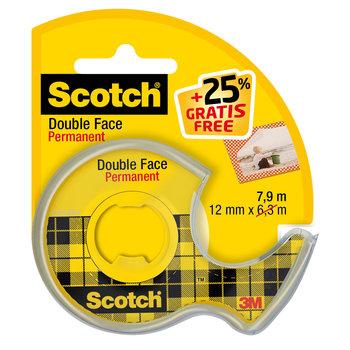 SCOTCH Ruban Scotch® Double Face 12mm x 7,9m + 25 % gratuit