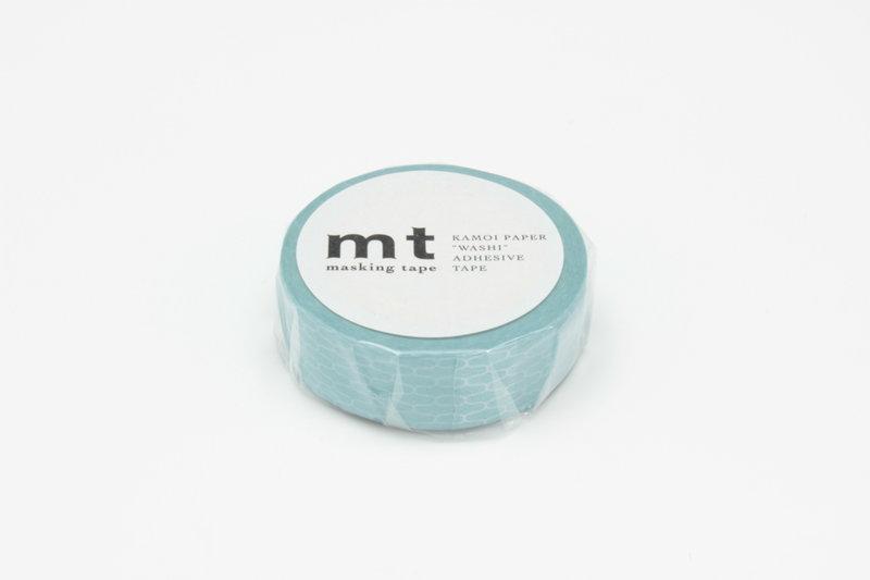 MT MASKING TAPE MT 1P Motif alvéoles bleu / ajiro hisoku